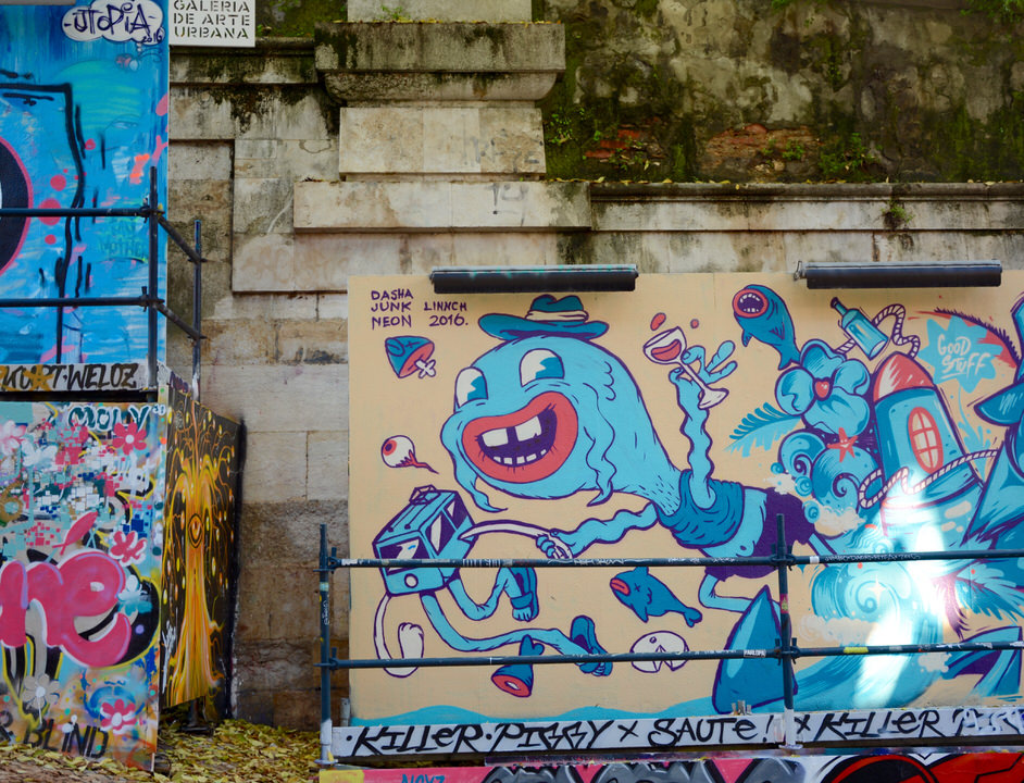 Städtereise Lissabon Galeria de Arte Urbana