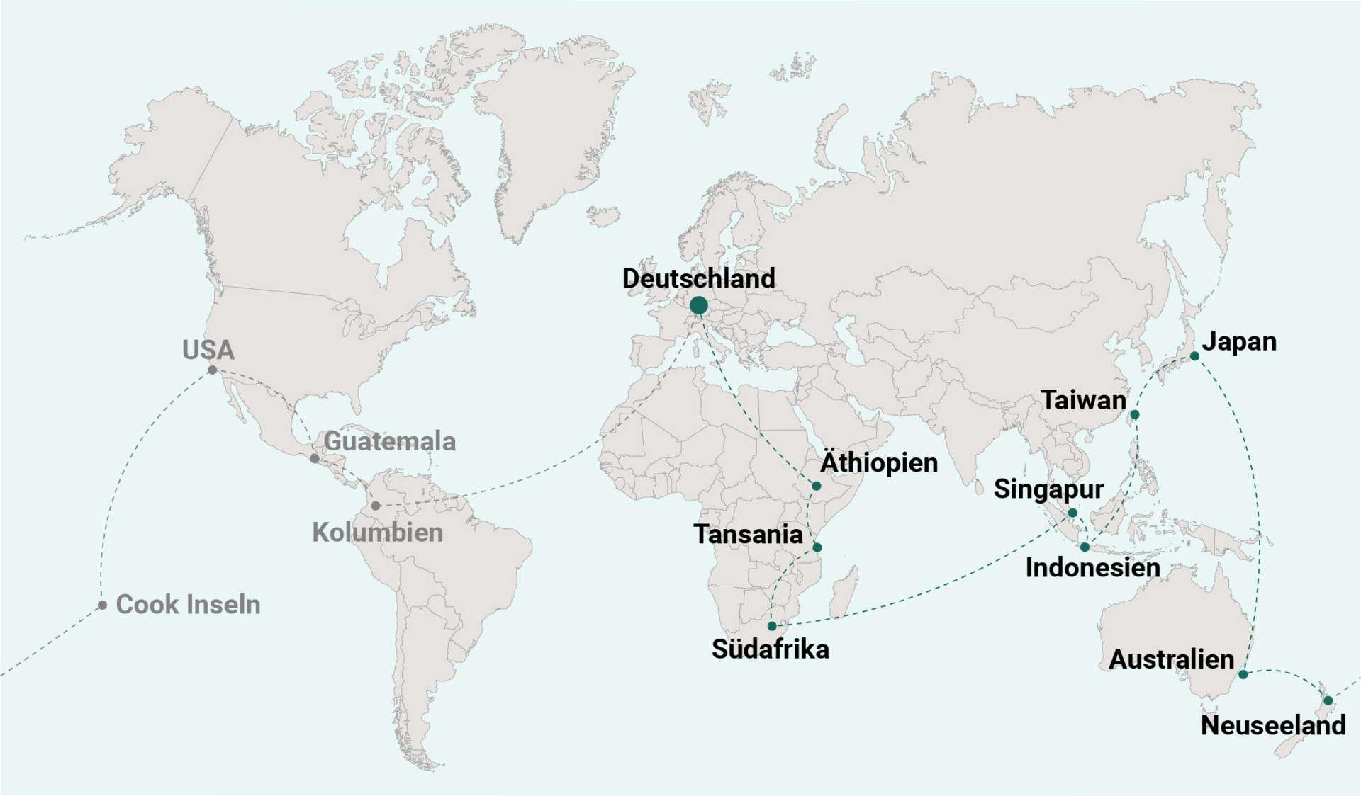Weltreise Blog Route 10 Neuseeland