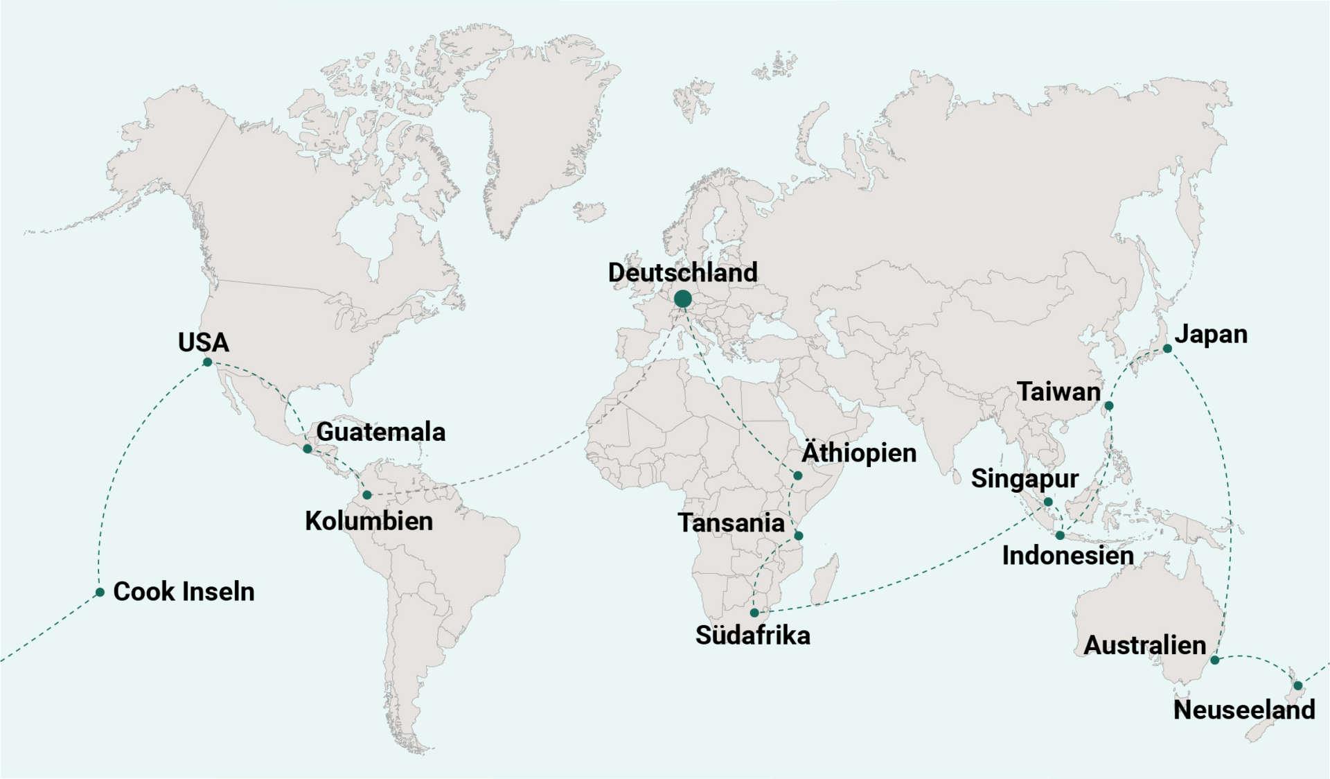 Weltreise Blog Route 14 Kolumbien
