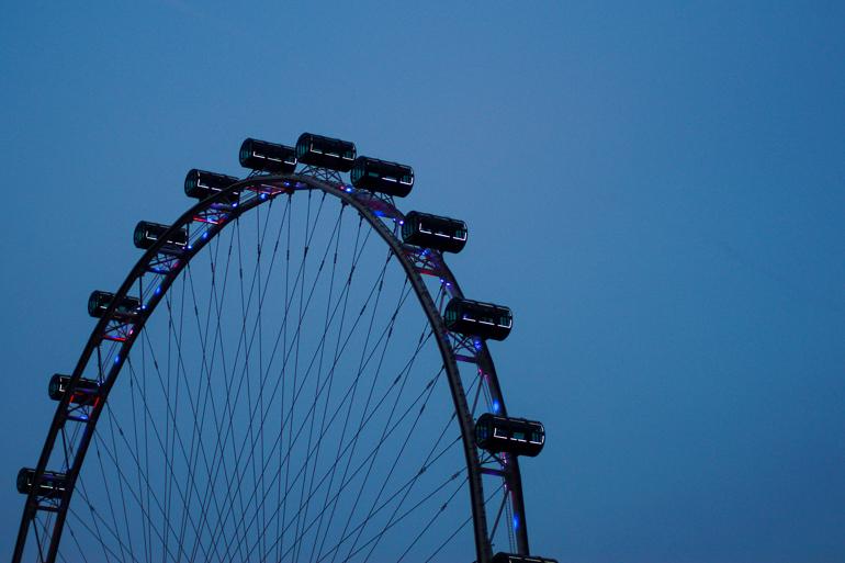 Travellers Insight Reiseblog Singapur Stadtviertel Riesenrad Waterfront