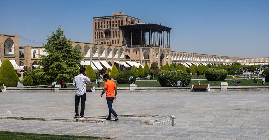 Travellers Insight Reiseblog Iran Eisenbahn Isfahan Imamplatz